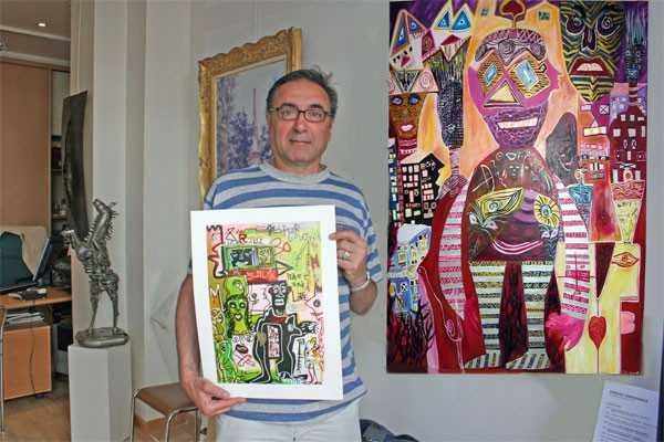 Un galeriste et un tableau