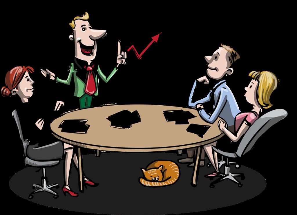Une réunion d'affaire